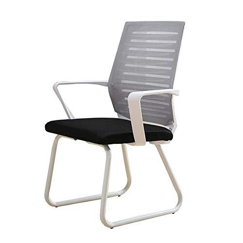 Möbelsets-LX Bürostuhl Konferenzstuhl Mesh Atmungsaktives Schaumkissen Ergonomischer Schreibtischstuhl Computer Stuhl 46x47x94cm (Farbe : Gray)