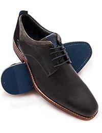 Zerimar Zapato Estilo Casual con Cordones Fabricado EN Piel Color Azul Marino Talla 46 Pjwwzf62