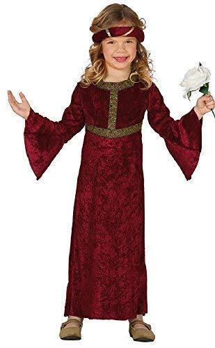 Renaissance Maiden Kind Kostüm - Fancy Me Mädchen-rot Renaissance Mittelalterliche Prinzessin