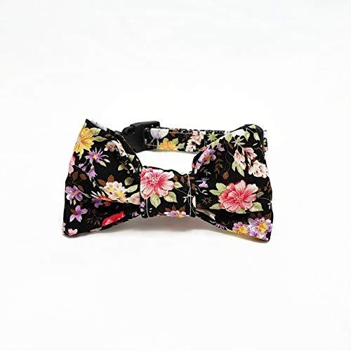 Hundehalsband mit Fliege - Vintage Flowers