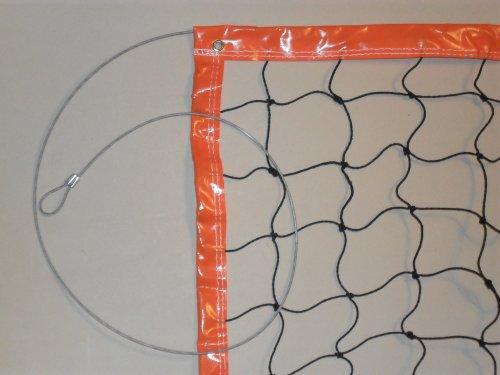 Hochwertiges Beach-Volleyballnetz 3mm PE 8,5 x1m (Stahlseil!)