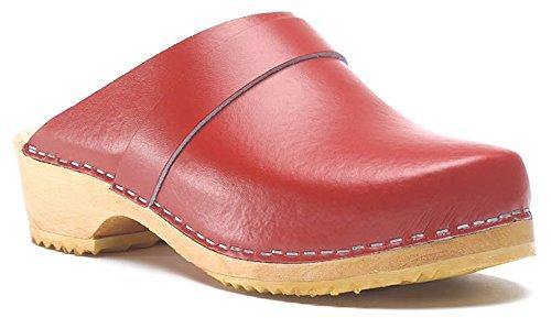 classico zoccoli Rosso in legno Toffeln Zoccolo 310 Surgi tradizionale qcxftUW