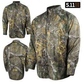5.11 Herren Langarmshirt TacLite Professional, Weiß, Gr. L - 5.11 Holster Shirt