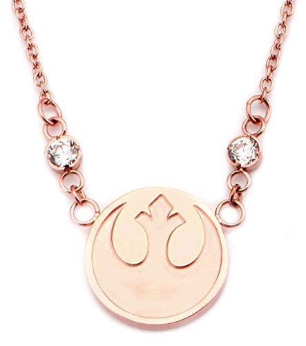 Star Wars Edelstahl Rose Gold Rebel Symbol klein Anhänger Halskette