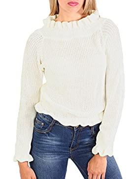 PILOT® cuello volante manga larga punto de jersey