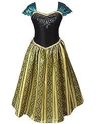 ELSA & ANNA® Filles Reine des Neiges Princesse Partie Costumée Déguisements Robe de Soirée FR-FBA-ANNA1