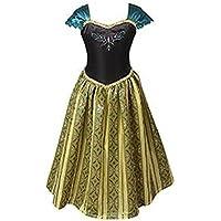 ELSA & ANNA® Mädchen Prinzessin Kleid Verrücktes Kleid Partei Kostüm Outfit DE-FBA-ANNA1