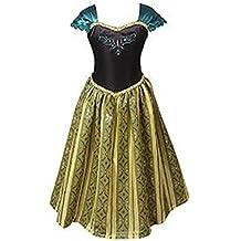 ELSA & ANNA® Princesa Disfraz Traje Parte Las Niñas Vestido (Girls Princess Fancy Dress) ES-FBA-ANNA1 (6-7 Años, ES-ANNA1)