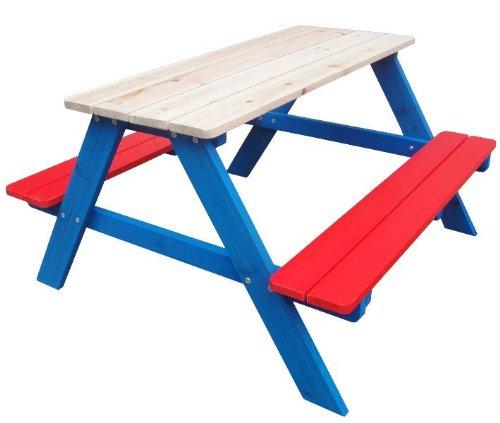 Kinder Gartenbank - Gartengarnitur, Sitzbank, Gartentisch, Kinder Tisch, Picknickbank