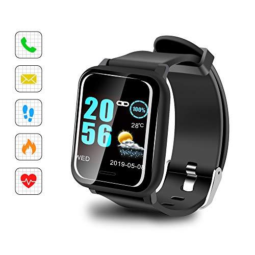 "Sonkir Smart Watch mit 1.3\"" Colored Touchscreen, Pulsmesser, wasserdichtem IP67-Fitness-Tracker-Pedometer-Armband, kompatibel mit iPhone, Samsung, Huawei, Nexus, Android, iOS-Handys"