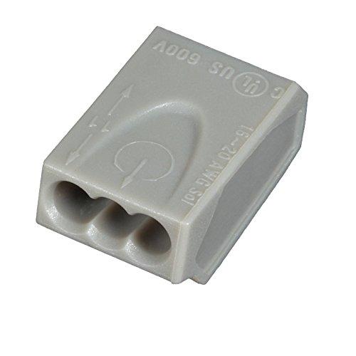 ViD C100 3151 Verbindungsklemme/ Steckklemme grau 3 x 0,5-1,5 mm² - 100 STÜCK Dosenklemme