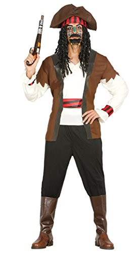 Herren Sevens Seas Piraten Party Captain TV Film Fancy Kleid Kostüm Outfit Große