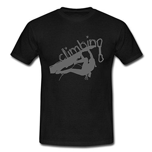 Klettern Climbing Kletterer Männer T-Shirt von Spreadshirt®, M, Schwarz