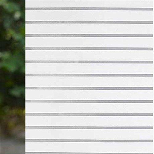 XI.W.H Transparente Milchglas Fenster Fenster Papier Papier Aufkleber Glas Folie Glas Schatten Schatten, dunkles Grau weiße Streifen 60 cm*2 m
