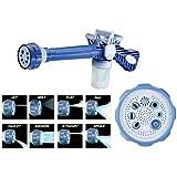 Dhruheer EZ Jet Cannon 8-in-1 Turbo Water Spray Water Cannon Gun Blue Car Bike Washing Accessories