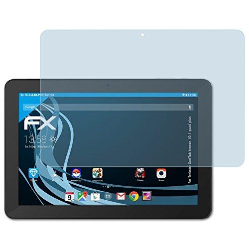 atFolix Schutzfolie kompatibel mit Trekstor SurfTab Breeze 10.1 Quad Plus Folie, ultraklare FX Bildschirmschutzfolie (2X)