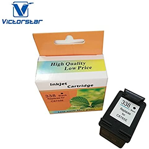 VICTORSTAR @ Rigenerate Cartucce D'inchiostro Sostituzione per HP 338 (Nero C8765E) Alto Resa /HP stampanti 5740/6450/6520/6540/6620/8840/9800/6210/7210/7310 ...