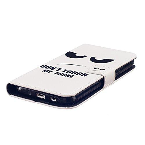 nancen Apple iPhone 5C (4,0pollici) Bookstyle Custodia Mignon stile disegno custodia cover di protezione in pelle PU portafoglio Phone Case do not touch my phone