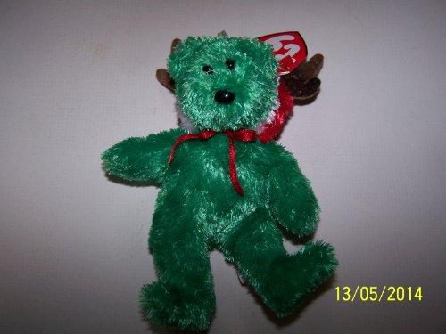 TY BEANIE BABIES 2002 HOLIDAY TEDDY BEAR JINGLE BEANIE BABY TOY