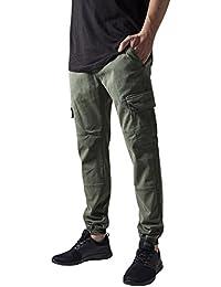 Urban Classics Herren und Jungen Cargohose Washed Cargo Twill Jogging Pants, Rangerhose mit aufgesetzten Seitentaschen