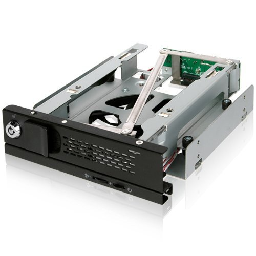 Icy Dock TurboSwap MB171SP-B - SATA Hot Swap Wechselrahmen für 3,5 Zoll (8,9cm) HDD - Trägerlos Vollmetall 80mm Lüfter - Sata-wechselrahmen