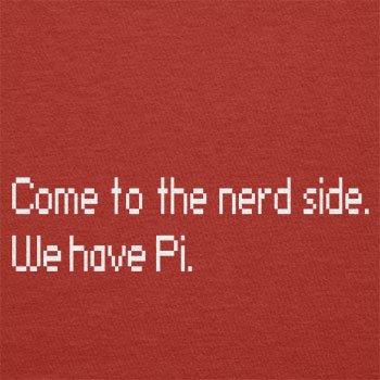 TEXLAB - Come to the Nerd Side - Herren Langarm T-Shirt Rot