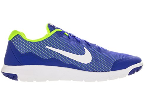 Nike Herren Flex Experience Rn 4 Laufschuhe Blau / Weiß / Gelb (Racer Blue / Weiß-Volt-Weiß)
