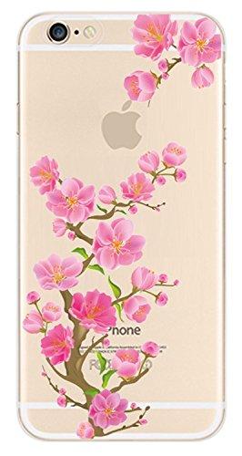 Voguecase® für Apple iPhone 5 5G 5S, Schutzhülle / Case / Cover / Hülle /Ultra Slim Fit TPU Gel Skin (Pinguine schwimmen) + Gratis Universal Eingabestift Crabapple Baum