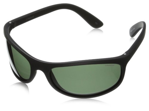 Polaroid unisex - adulto p7334 rc 9ca occhiali da sole, nero (black/green polarized), 63