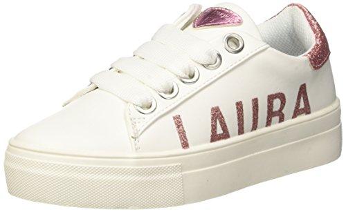 Laura biagiotti dolls l-3463, sneaker bambina, bianco, 31 eu