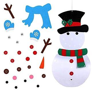 Ogquaton Niños Niños DIY Fieltro Muñeco de Nieve Set Navidad Decoración de la habitación del hogar Juguetes
