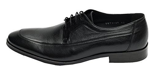 Muga Hommes chaussures à lacets-871- Noir