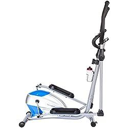 TechFit OptimusCity Cross Trainer, Bicicleta elíptica para el hogar, Máquina de cardio para ejercicios de fitness, Dispositivo de resistencia magnética apta para espacios interiores