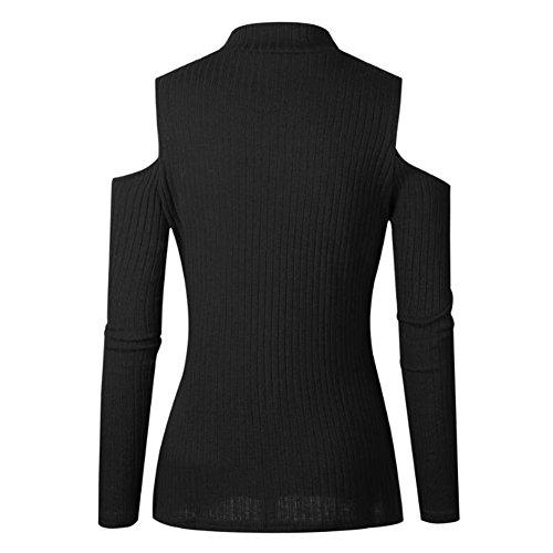 Le donne pullover a maniche lunghe pullover a maniche lunghe pullover maglione a maniche lunghe da donna Juleya Nero