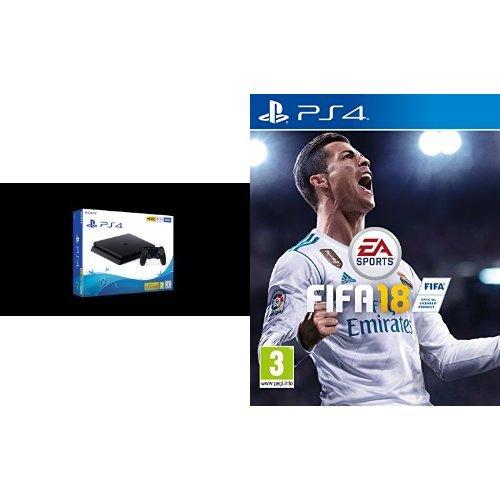 Bundle: PlayStation 4 500GB E Chassis Black + FIFA 18