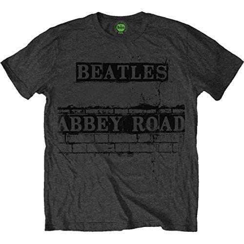 The Beatles Abbey Road Sign Men's Short Sleeve Shirt Gr. Large, Grau - Grau - Beatles Short Sleeve T-shirt