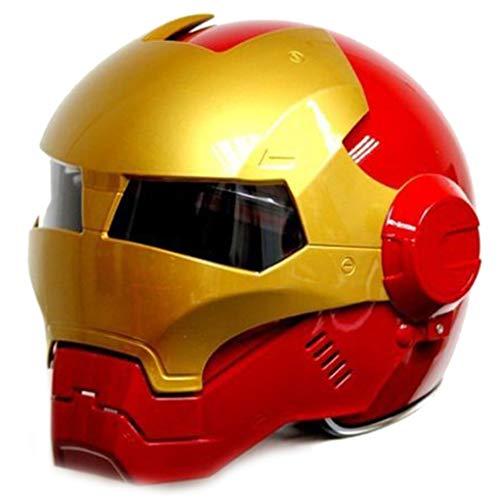 wthfwm Casco Iron Man da Uomo Marvel Casco Anti-collisione Casco da Adulto Casco Anti-collisione Professionale Avengers,Red-L