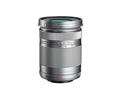 Olympus Zoom Lens - Kit M.Zuiko 40-150mm R Plata (Apertura f/5.6-4, Zoom óptico 3.8X, diámetro Filtro 63.5 mm) y Funda Adaptable OM-D