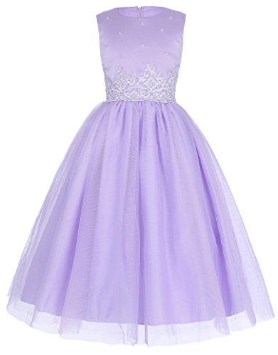 Sweet Lila Abendkleid Kommunion Party Kleid A-Linie 11-12 Jahre