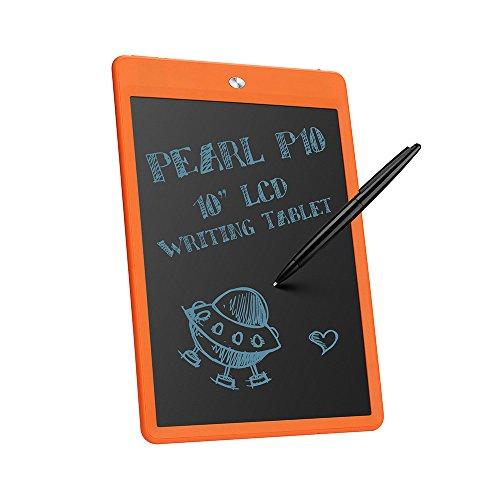 """Parblo Pearl P10 10 """"LCD Schreibset Tablet Zeichentafel Papierloser Notizblock mit Radiergummi-Verschluss(Orange)"""