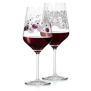 RITZENHOFF 2er-Set Rotweinglas Kristall Design Veronique Jacquart & Shinobu Lto