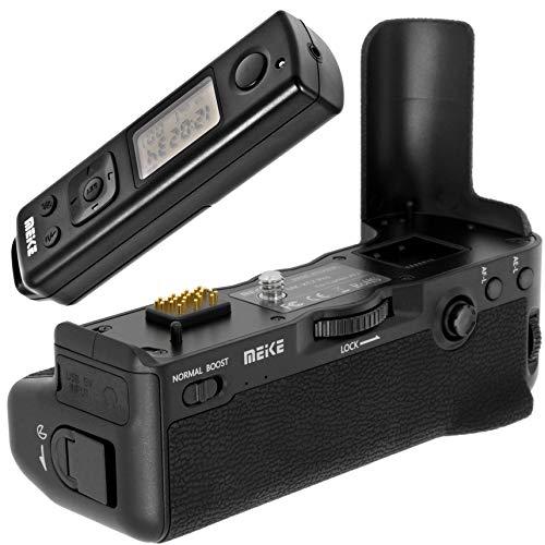 Meike Batteriegriff Akkugriff Battery Grip kompatibel mit Fujifilm X-T2 Ersatz für Fujifilm VPB-XT2 inkl. 2,4 GHz Funk Fernauslöser 100m Reichweite - MK-XT2 Pro -