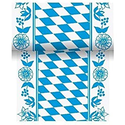 Duni de cinta de mesa Dunicel Damasco de impresión Diseño de Rombos del Escudo de Baviera, 15cm x