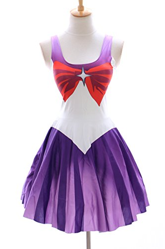 SK-05 Gr. S-M Sailor Moon Saturn lila Kleid dress Cosplay Manga Japan (Sailor Kostüme Kleid)