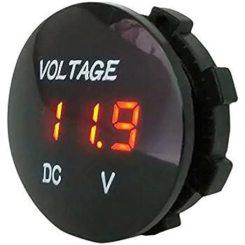 0.36DC 0-100V Voltmetro Pannello LED Display digitale Tensione Tensione 3 fili Rosso verde blu Volmetro per motocicli Automobili Auto Moto Camion Imbarcazioni Camper Tester