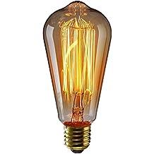 KINGSO E27 60W ST64 Ampoules à incandescence 220V Rétro Edison Ampoule Antique Lampe