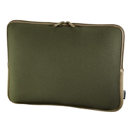 Hama Neoprene Notebook hülle bis 40 cm (15,6 Zoll) grün/braun