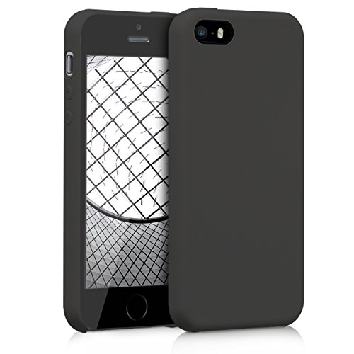 kwmobile Apple iPhone SE / 5 / 5S Hülle - Handyhülle für Apple iPhone SE / 5 / 5S - Handy Case in Schwarz matt