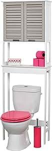 Meuble dessus toilettes WC 2 portes - Esprit Charme