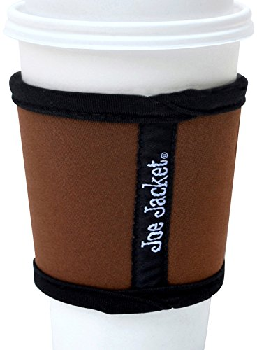 joe-jacket-neoprene-drink-insulator-sleeve-cup-grip-brown